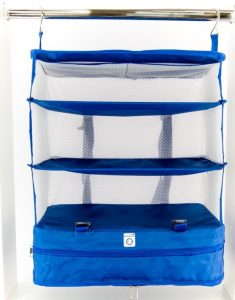 organizador de bagagem azul