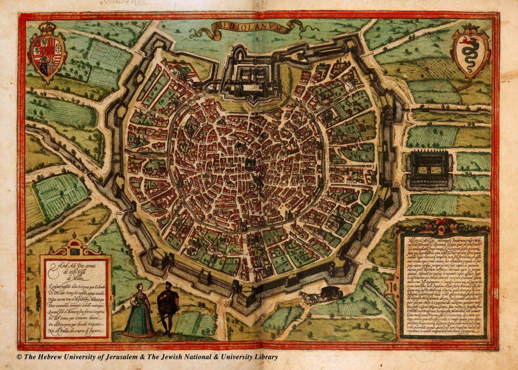 milão mapa antigo