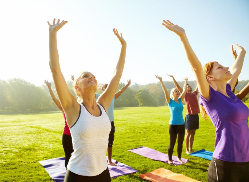 ioga no verão