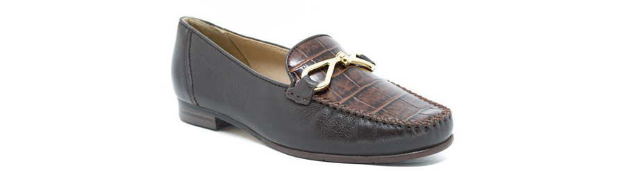 imagem de um calçado de couro