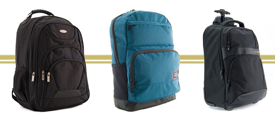 imagem com 3 mochilas para notebook