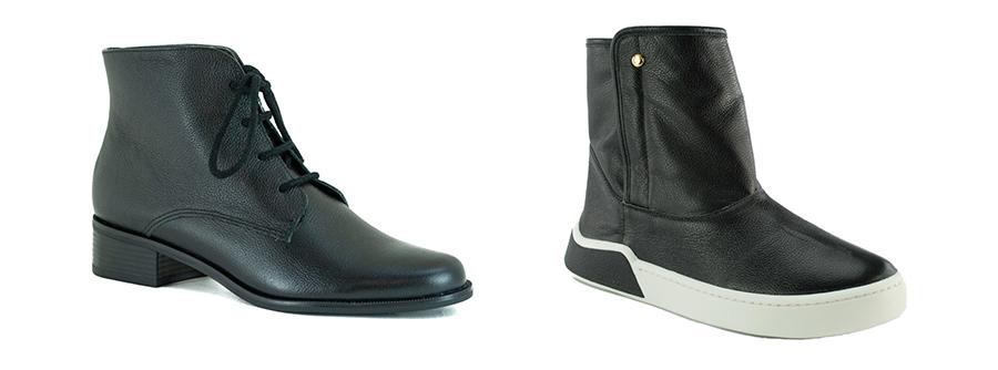imagem de botas de couro femininas